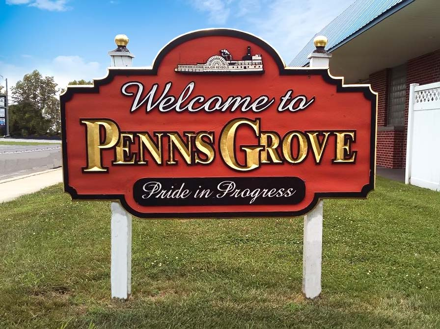 Sign saying Welcome to Penns Grove